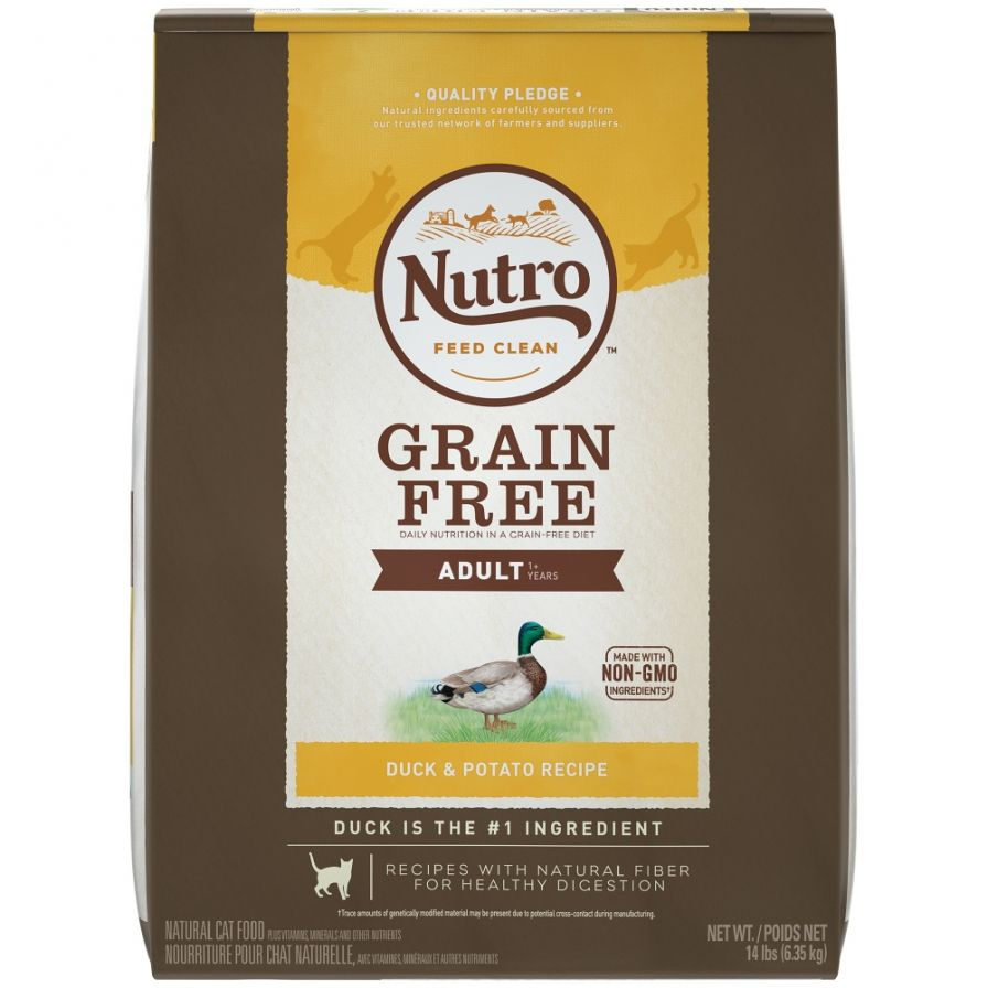 Nutro Grain Free Adult Duck and Potato Recipe Dry Cat Food