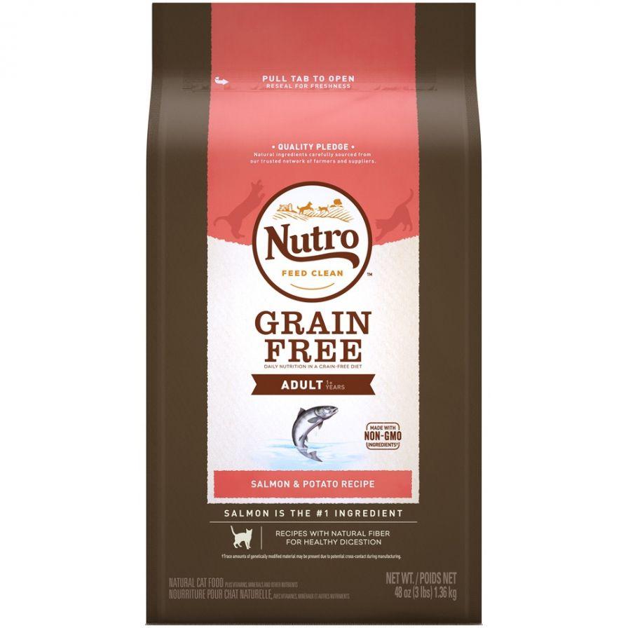 Nutro Grain Free Adult Salmon and Potato Recipe Dry Cat Food