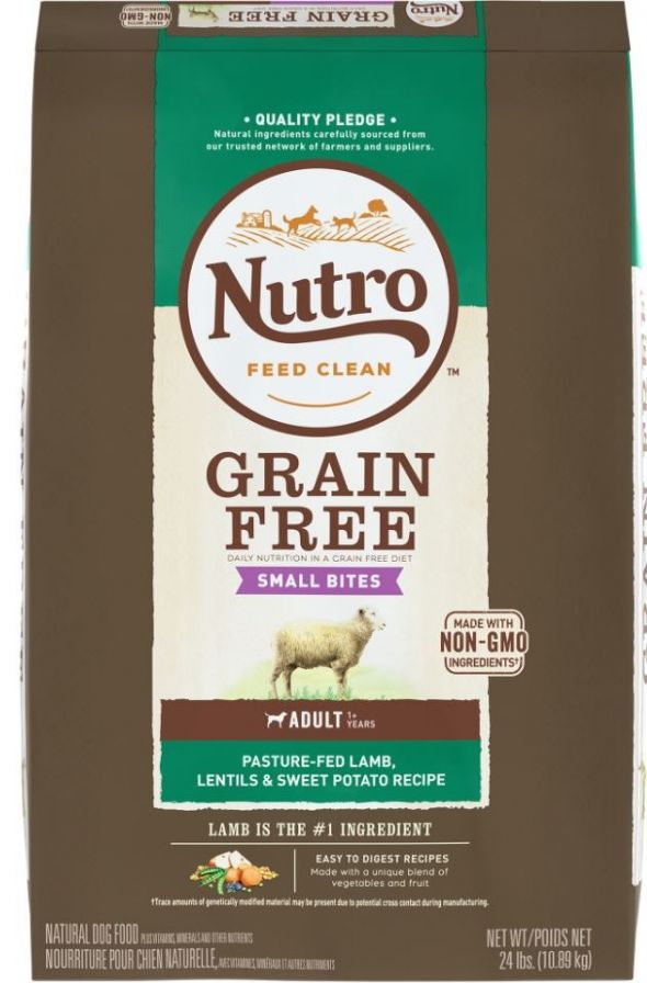 Nutro Grain-Free Adult Small Bites Lamb, Lentils and Sweet Potato Dry Dog Food