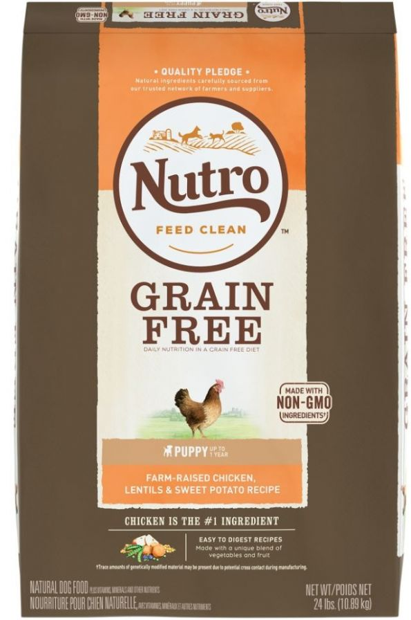 Nutro Grain-Free Puppy Chicken, Lentil and Sweet Potato Dry Dog Food