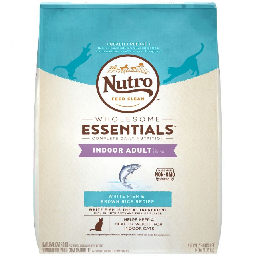 Nutro Wholesome Essentials Indoor Adult White Fish and Brown Rice Dry Cat Food